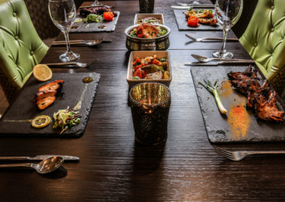 Lime-restaurant-plated-indian-food-laid-out